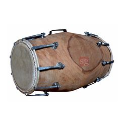 SG Musical Natural Nut Bolt Dholak Free Carry Bag