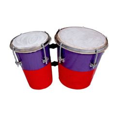 SG Musical Bongo Drum Multicolor With Central Tuning Key