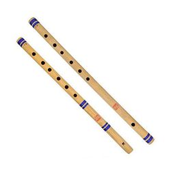 SG Musical Natural Medium Finest Combo Of Indian Bansuri Straight Flute + Side Flute