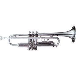 SG Musical MI-210S Bb Silver Plated Standard Trumpet Monel Pistons  Freebie