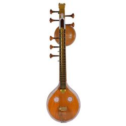 Sg Musical Joint Veena with Standard Stand, Mela Cover and Veena Cover