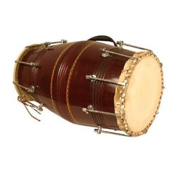SG Musical Large Gajra Dholak Sheesham Wood With Tuning Spanner Free Carry Bag