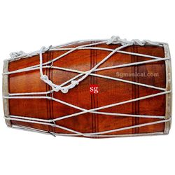 SG Musical Rope-Tuned Dholak Mango Wood Free Carry Bag