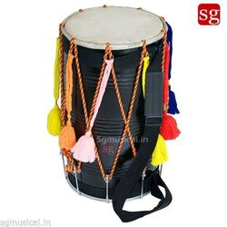 Sheesham Wood Bhangra Dhol Free Padded Carry Bag by SG Musical