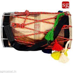 SG Musical Punjabi Bhangra Dhol  Natural Shesham Wood Free Padded Carry Bag