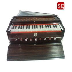 SG Musical Harmonium 9 Stop, Walnut Color, A440, 3.5 Octave, Multi-Bellows