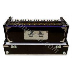 SG Musical Folding Safri,Mahogany, A440, 42 Keys, Coupler