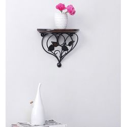 Onlineshoppee Home Decor Premium Quality Leaf Design Shelf Rack Wall Bracket Wall Rack