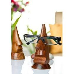 Wooden Nose-Shaped Spectacles / Glasses Holder / Specs Stand