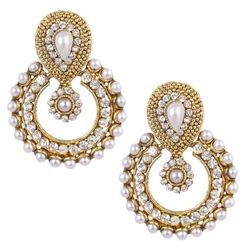 YouBella Traditional Pearl Dangle & Drop Earrings for Women