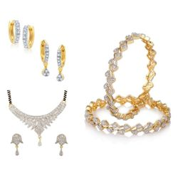YouBella Pride Collection Combo of Mangalsutra, Two Earrings and Stylish Bangles for Women