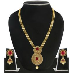Gold Plated Multistrings Necklace Set