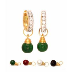 YouBella Interchangeable Stones CZ Studded Traditional Earrings for Women