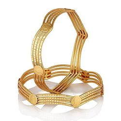 YouBella Traditional Temple Coin Gold Plated Bangles For Women