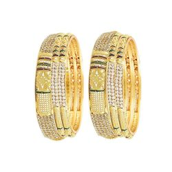 Youbella Gold Plated Bangle Set For Women And Girls - Set Of 6 Bangles