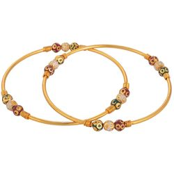 Youbella Multicolour Gold Plated Bangle Set For Women