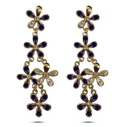 Orchid Purple CZ Array Earrings