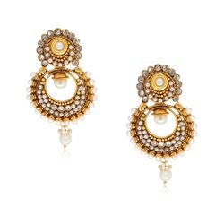 YouBella Designer Traditional Pearl Earrings
