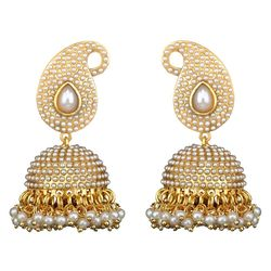 Youbella Pearl White Dangle & Drop Earring For Women/Girls