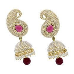 YouBella Designer Traditional Jewellery Pearl Jhumki / Jhumka Earrings for Girls and Women