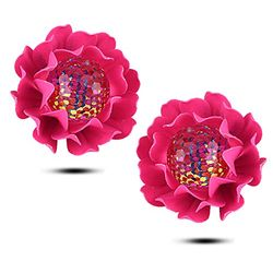 YouBella Jewellery Presents Gracias Collection Floral Fancy Party Wear Earrings for Girls and Women