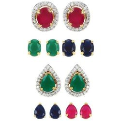 YouBella Combo Of Two 6 In 1 Changeble Earrings Jewellery For Girls/Women