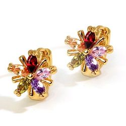 Amazebellas Particoloured Swiss Zircon Earrings