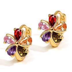 Smashing Prismatic Swiss Zircon Earrings