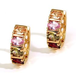 Imposing Chequered  Swiss Zircon Earrings