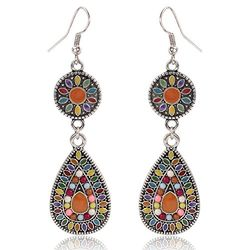 Vivid Multi Colored Beads Bedecked Earring