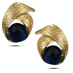 Ambrosial Midnight Blue Solitaire Earring
