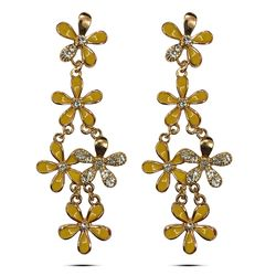 Shining Sunshine CZ Incised Earrings