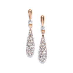 Array Of Cubic Zircon Embellished Dangling Earrings