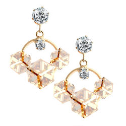 YouBella Fashion Jewellery Summer Special Crystal Stylish Fancy Party Wear Earrings for Girls and Women (Wine)