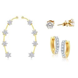 YouBella Combo of Trendy Earrings and Earcuffs