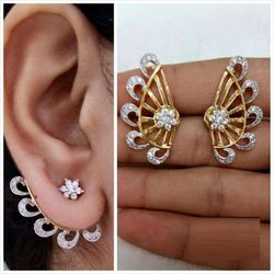 YouBella Gold Plated American Diamond Earcuff