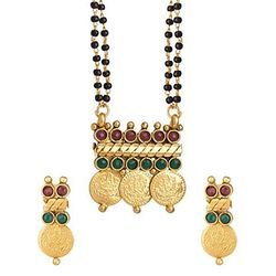 YouBella Temple coin Mangalsutra with Chain for Women