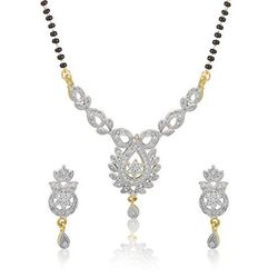 YouBella American Diamond Mangalsutra Jewellery For Girls And Women