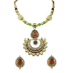 YouBella Glorious Pearl Kundan Necklace Set for Women