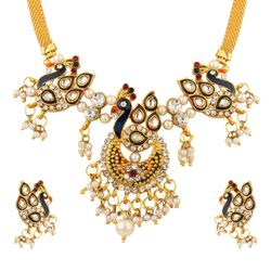YouBella Traditional Dancing Peacock Necklace Set for Women