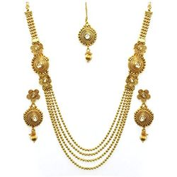 YouBella Antique Kundan Traditional Maharani Temple Necklace Set for Women