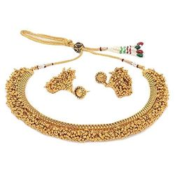 YouBella Antique Kundan Traditional Temple Necklace Set for Women
