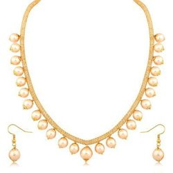 YouBella Pearl necklace set with earrings