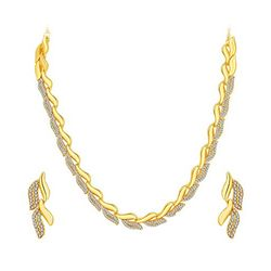 YouBella Austrian Diamond Necklace Set / Jewellery Set with Earrings For Girls And Women