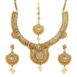 Kundan Bejeweled Antique Necklace set