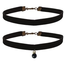 Pleasing Pitch Black Choker Necklace