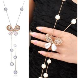 Stylish Pendants for Girls with Long Chain Pendent Party Western Wear Necklace