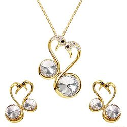 Love Bird Gold Glossed Pendant