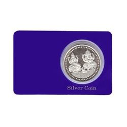 YouBella 10 Gram Pure 999 Bis Hallmarked Laminated Silver Coin
