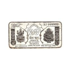 YouBella20 Gram Pure 999 Bis Hallmarked Silver Note / Bar